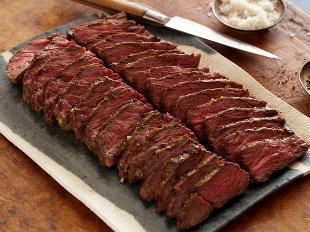 pink steak